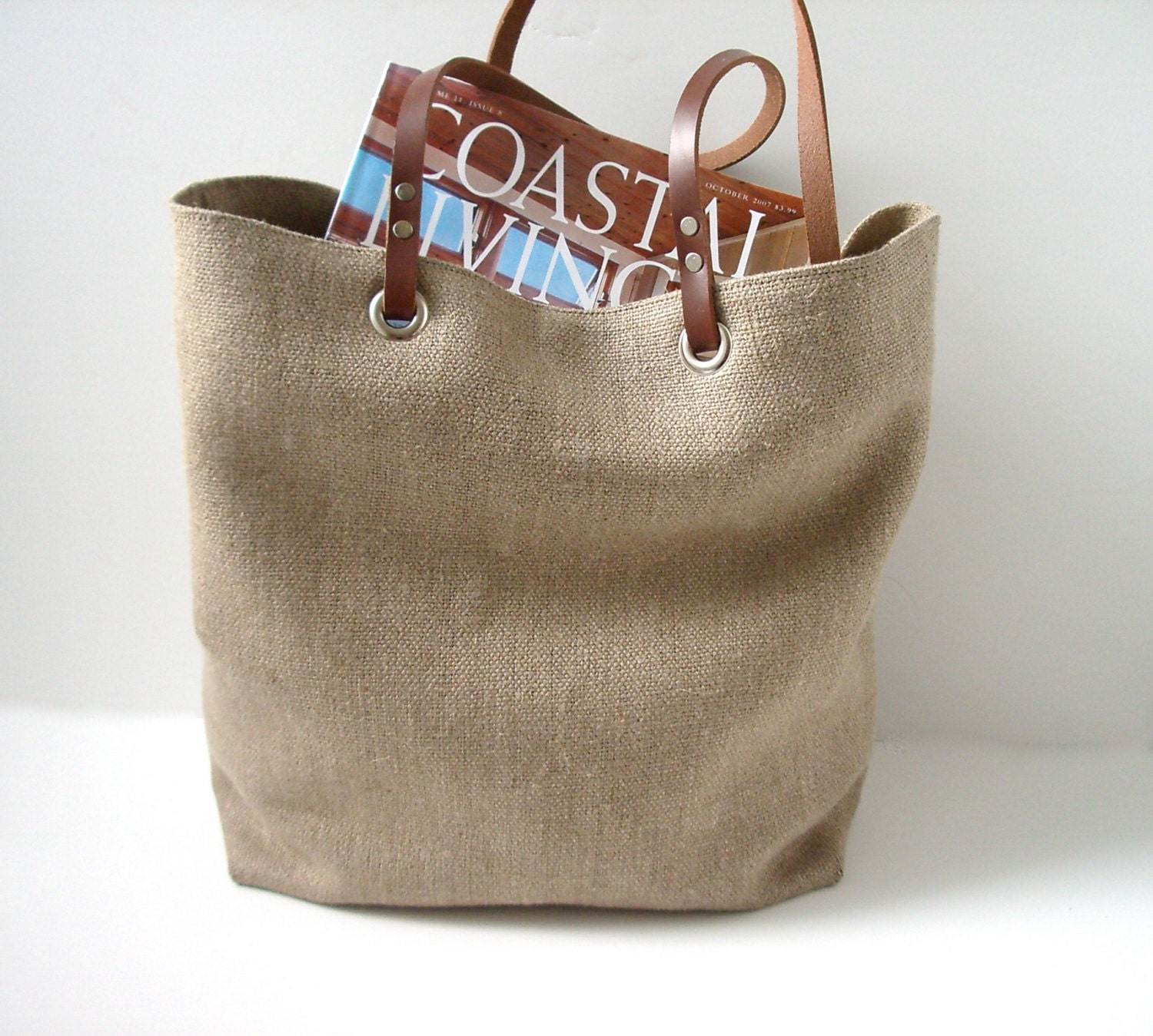 Woven Jute Tote Bag Casual Beach Bag