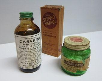 Vintage assortment of OTC bottles