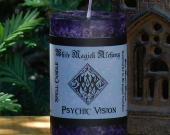 PSYCHIC VISION Spell Candle 2x3 Pillar