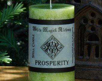 PROSPERITY Spell Candle 2x3 Pillar