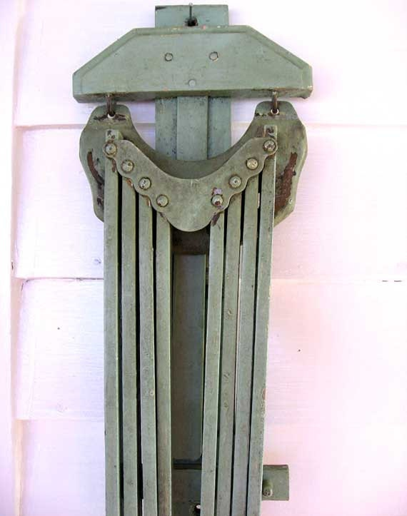 1930 Vintage Wooden Clothes Dryer 8 Arm Wall Hang Folding