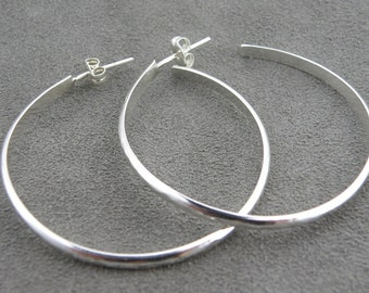 Hammered Hoop Earrings