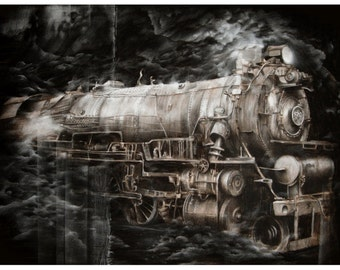 The Train-signed 16x20 print