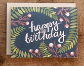 Birthday Fern Illustrated Card