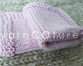 Custom Listing For Ann Martinez/Handknit Luxury Spa Washcloth Set /Long Lasting/ Choose Your Color
