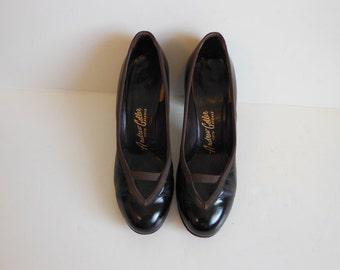 40s shoes / Toe Cleavage Vintage 1940's Andrew Geller High Heel Shoes