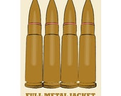 Film poster Full Metal Jacket 12x18 inches retro print