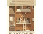 Movie poster Rear Window 12x18 inches retro print