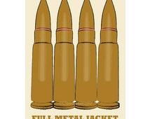 Film poster Full Metal Jacket 12x18 inches retro print
