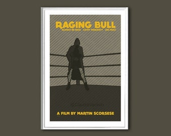 Movie poster Raging Bull retro print in various sizes