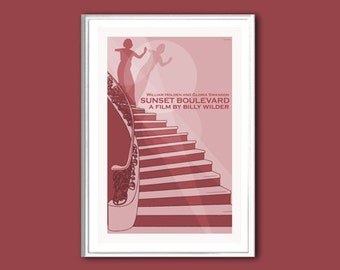 Movie poster Sunset Boulevard retro print in various sizes