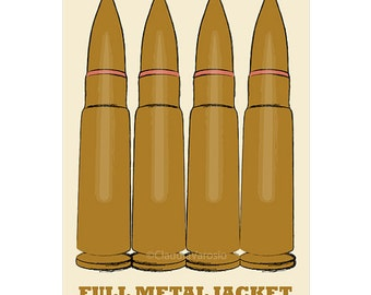 Film poster Full Metal Jacket retro print in various sizes
