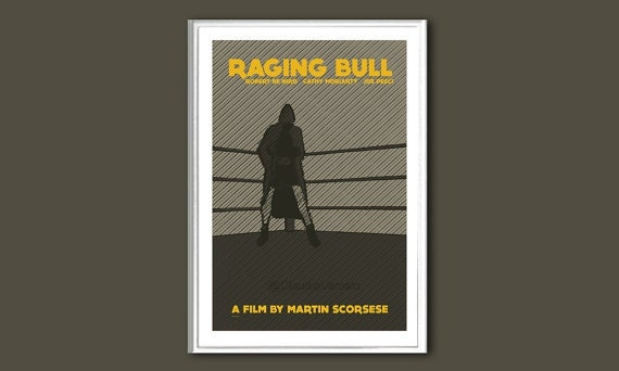 Movie poster Raging Bull 12x18 inches retro print