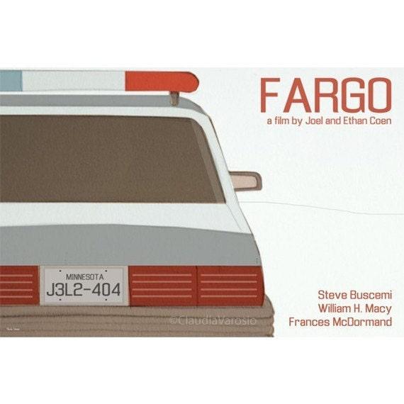 Retro print Fargo 18x12 inches movie poster