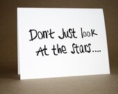 Graduation Card - Encouragement Card, cute, stars, friends, inspirational, dreams, thinking of you