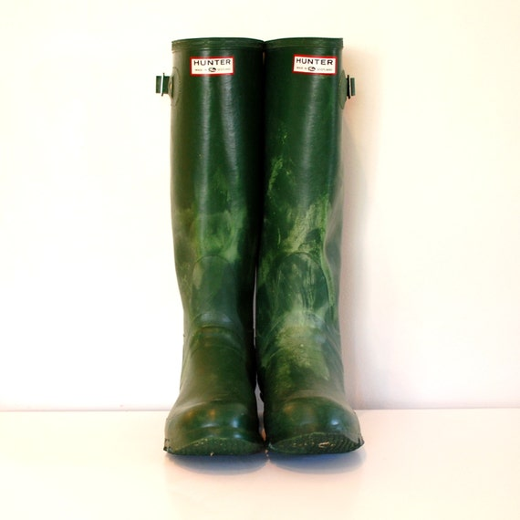 Hunter Boots Vintage Hunter Wellies Green Hunter Wellies