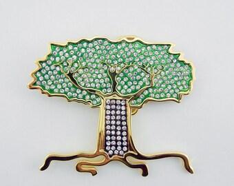 Tree of Life Belt Buckle Gold-tone