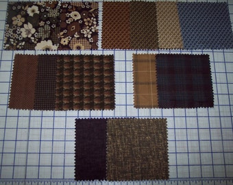 "Heavenly feel FLANNEL 100% quality cotton fabric Timeless Treasures earth tones 1/2 yd x 44"" wide"