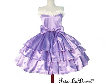 Three Tier Violet Cake Dress -------CUSTOM in YOUR size Collection Bridal Wedding Gown