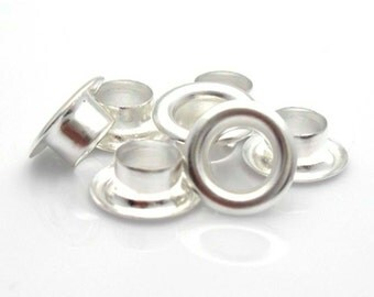 40 sets Bright silver grommet core metal centers for  european style large hole beads lampwork clay beads   instructions how to set