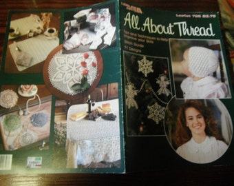 Thread Crocheting Patterns All About Thread Leisure Arts 726 Crochet Pattern Leaflet