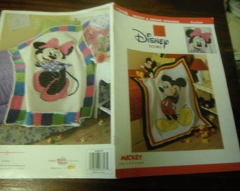 Disney Crochet Pattern Leaflet Mickey and Minnie Afghans Leisure Arts 3317 Crochet Pattern Leaflet Rare and HTF