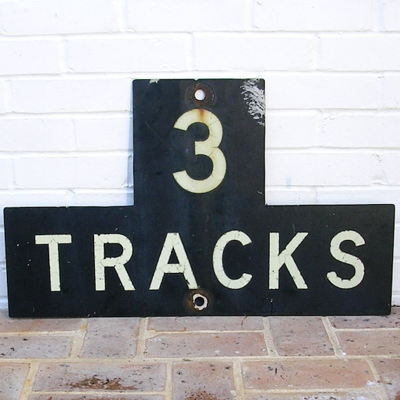 antique vintage metal railroad sign train sign antique vintage