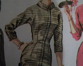 Sexy vintage 1956 McCall's dress pattern Joan Mad Men 14 32 bust