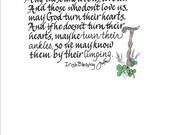IRISH HUMOR  Hand Scribed Poem