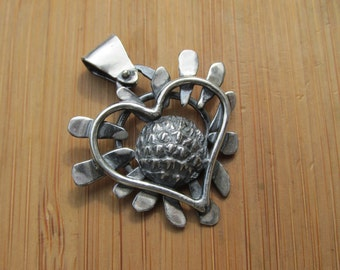 """Sterling Silver """"Heart of the Matter"""" Pendant"""