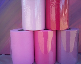 Sale  on 3 RollsTulle, 3 large rolls, 6 inches wide,tulle supplier, ribbons and tulle