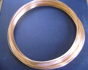 FREE SHIPPING 5Ft 24g 14K Rose Gold Filled Round Wire HH(2.20/ft Includes Free Shipping)