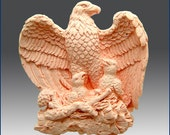 2D Silicone Soap Mold Oval - Majestic Eagle with Chicks- free shipping