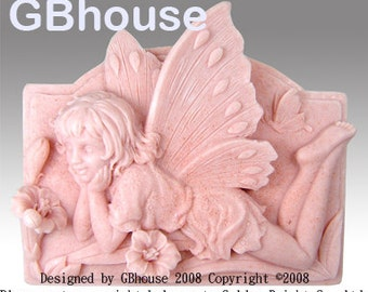 2D Silicone Soap Mold - Fairy9 Corinna, Fairy of the Maidens - Free Shipping