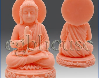 3D Silicone Soap and Candle Mold  -Sitting Buddha - free shipping