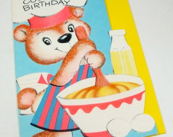 Vintage Birthday Card, Happy Birthday, Greeting Card, Cousin's Birthday, Unused, Laurel  (40-13)