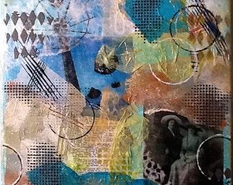 "Original Artwork - Collage, Mixed Media - ""Two Ladies"""