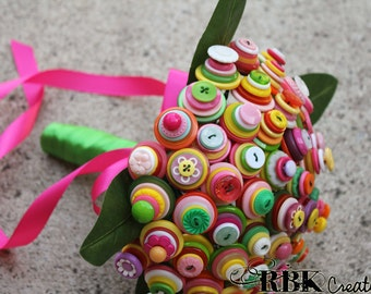 60 Stem Bright and Colorful Button Bouquet