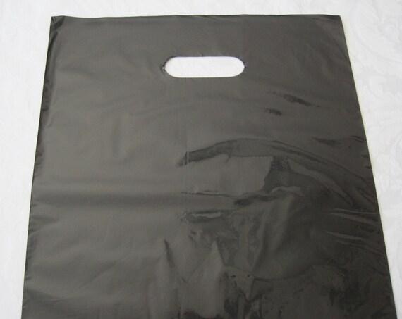 50 Black Plastic Bags, Black Bags, Gift Bags, Favor Bags, Bags ...