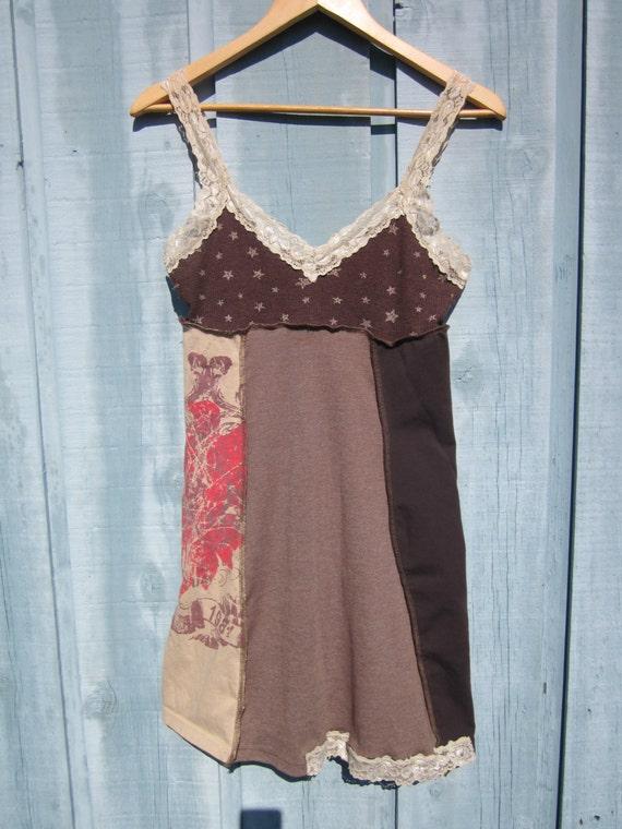 babydoll tank top t shirt dress upcycled empire waist panel ForEmpire Waist T Shirt Dress
