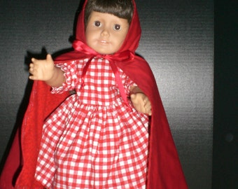 American Girl Doll Little Red Riding Hood Costume