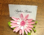 Daisy Place Cards & Holder set of 12~ Paper Flowers, Artificial Flowers,