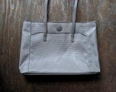 Vintage oversized LIZ CLAIBORNE handbag / Khaki MESSENGER bag
