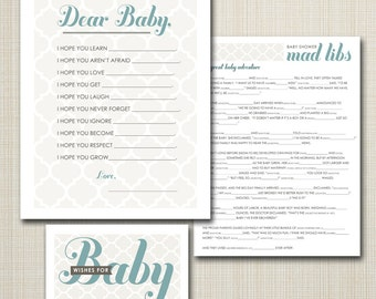 baby shower printable mad libs game and wishes for baby - sweet chic.