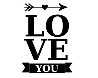 Love You decal