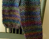Scarf Winter Unisex Multicolor Stripes