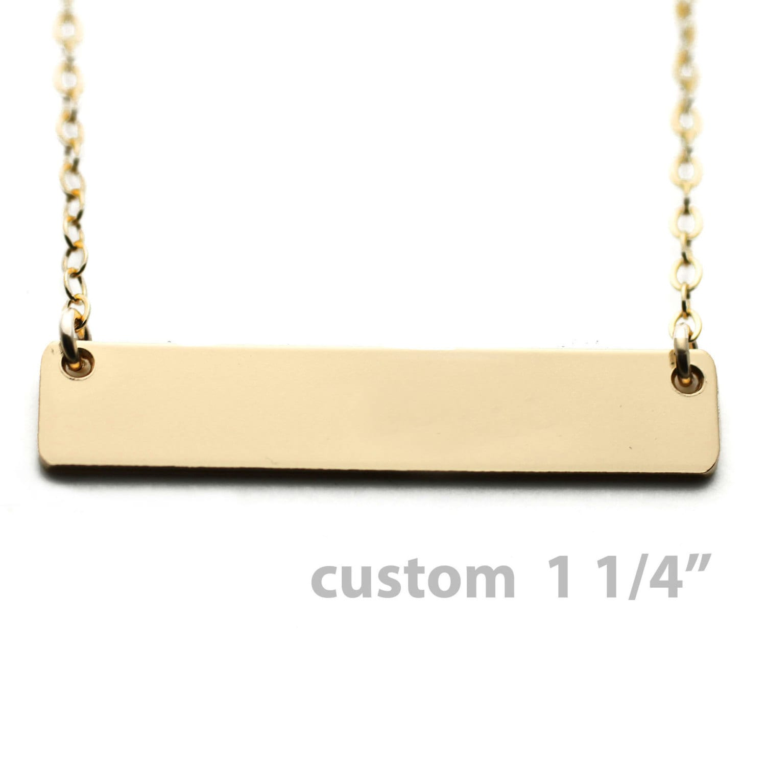 Custom Nameplate Necklace Gold Name Plate By Theurbansmith