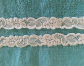 Stretch Lace OFF WHITE-3/4 inch -5  yards for 2.89