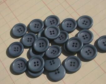 """Teal Blue Buttons - Sewing Bulk Blue Button - 13/16"""" - 24 Buttons"""