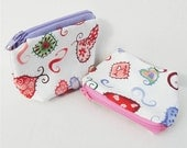 Patchwork Hearts Small Zippered Pouch